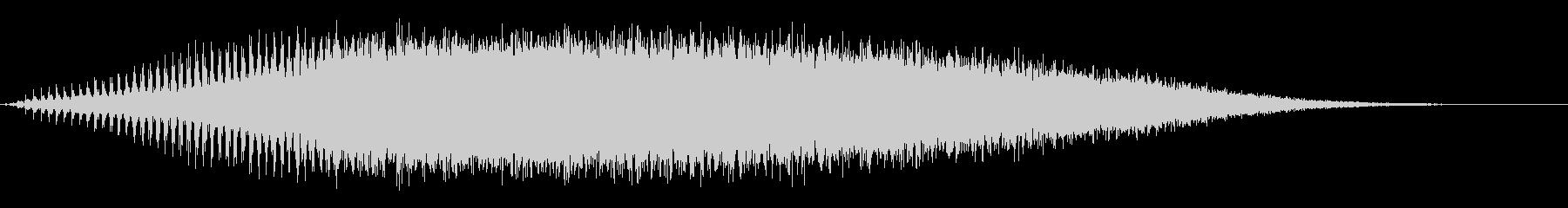 スパッタロールスイープアクセントの未再生の波形