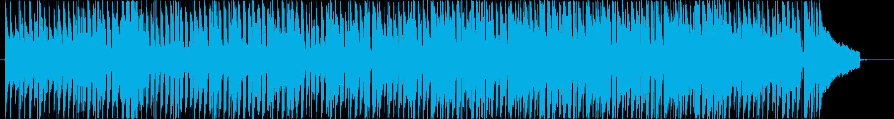 ハッピーで温かい曲の再生済みの波形