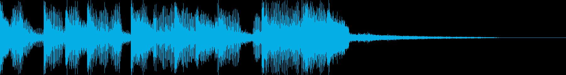 プチョヘンズアップなジングルの再生済みの波形