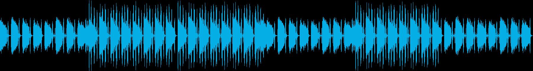 ループ可★ノリのよいスラップベースBGMの再生済みの波形