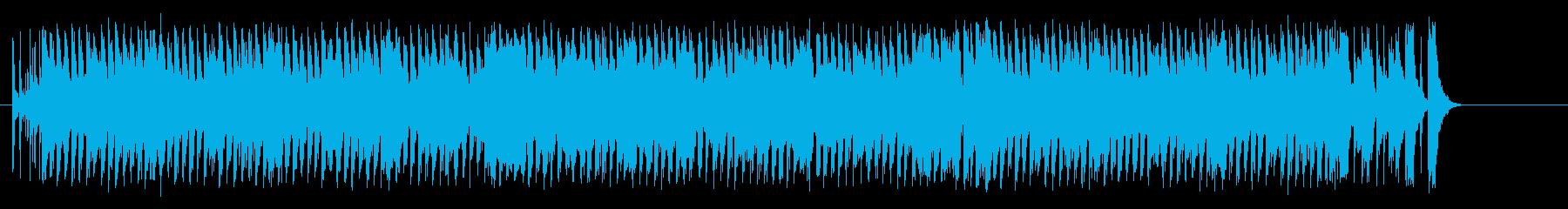 雨の日の軽快なシャッフル・ポップスの再生済みの波形