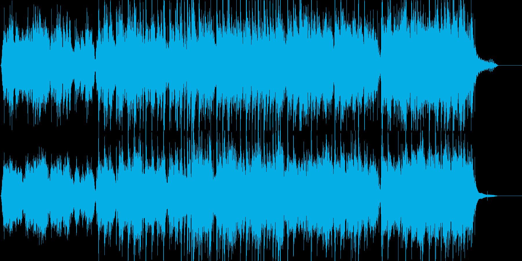 チェロとピアノによる叙情的な和風曲の再生済みの波形