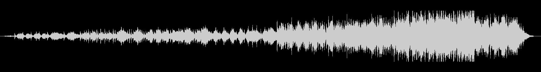 オーケストラとピアノを使用したミニマルの未再生の波形