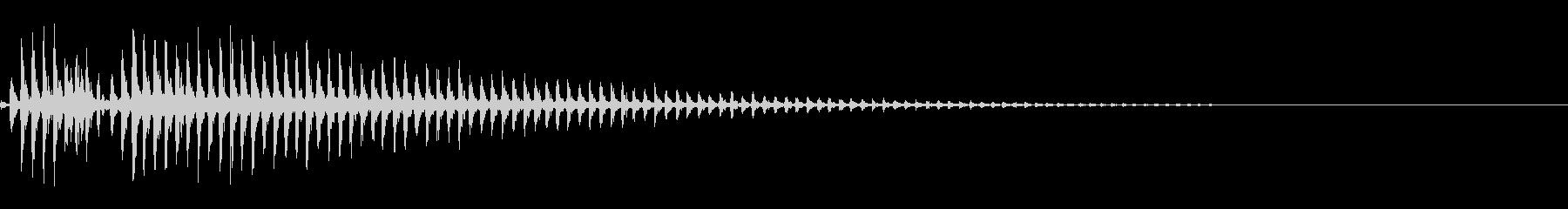 釣竿のリールのような音の未再生の波形
