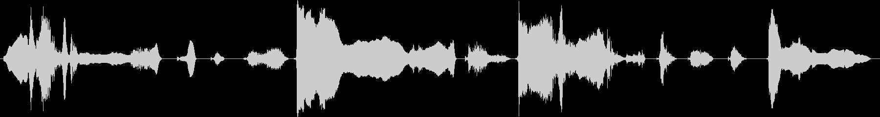 泣き2【声を上げて泣く】の未再生の波形