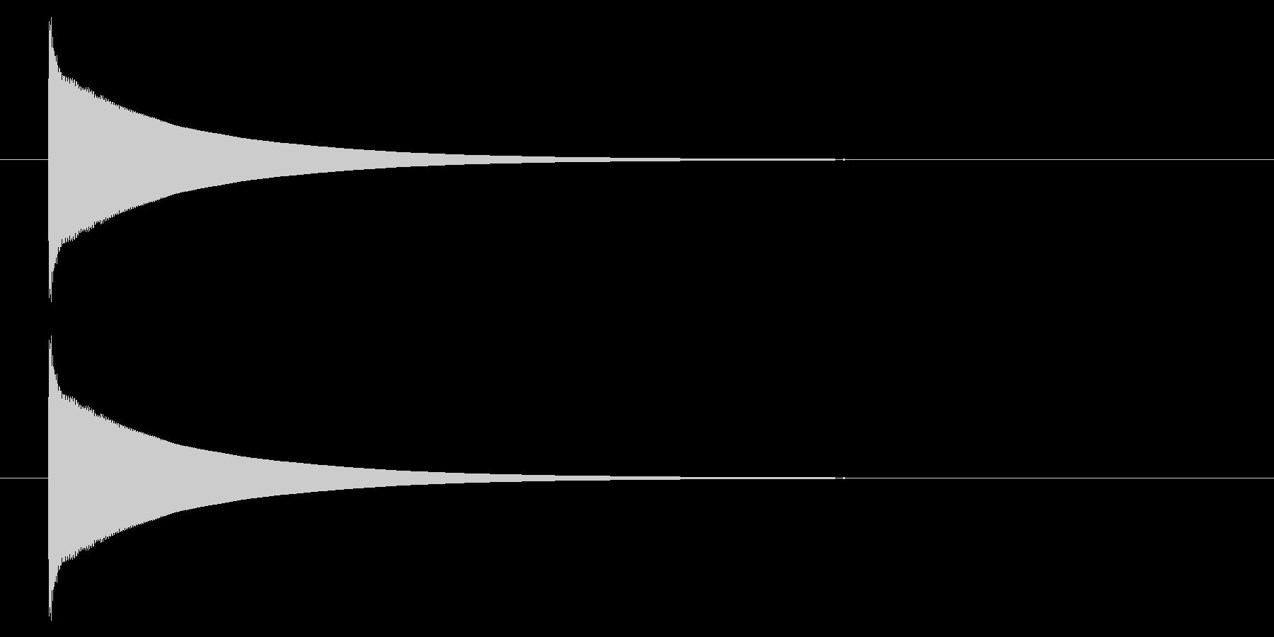 オルゴール01-4(単音)の未再生の波形