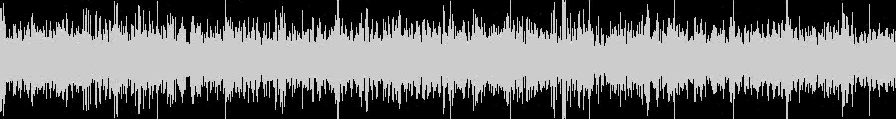エレキギターの低音が響くヘビーメタルの未再生の波形