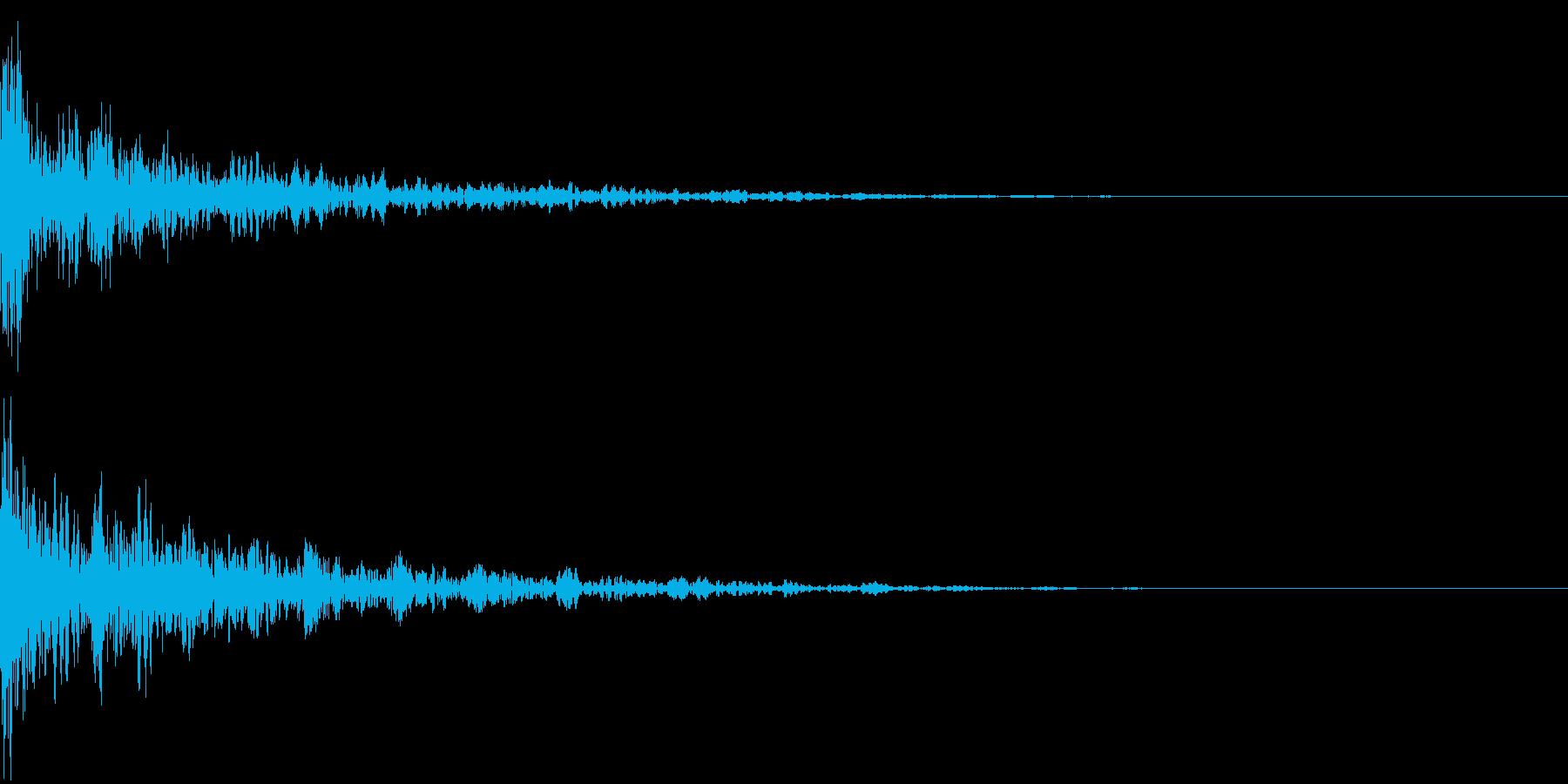 ドーン-46-2(インパクト音)の再生済みの波形
