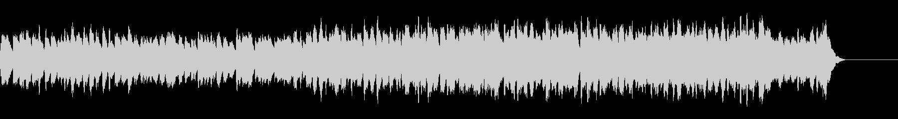 三声のバロック風ハープシコードの曲の未再生の波形