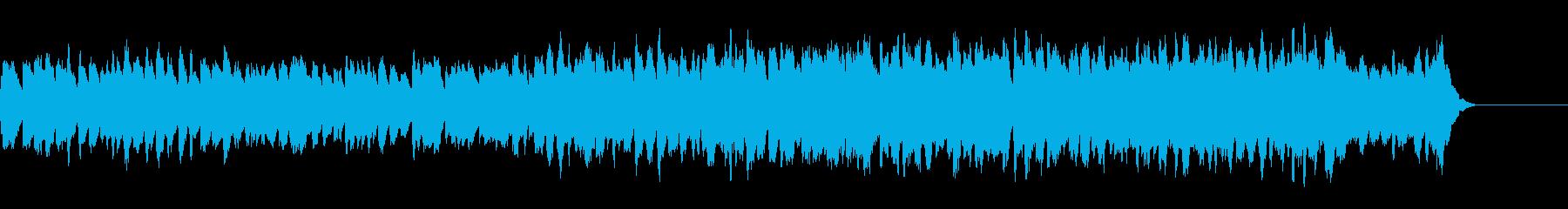 三声のバロック風ハープシコードの曲の再生済みの波形