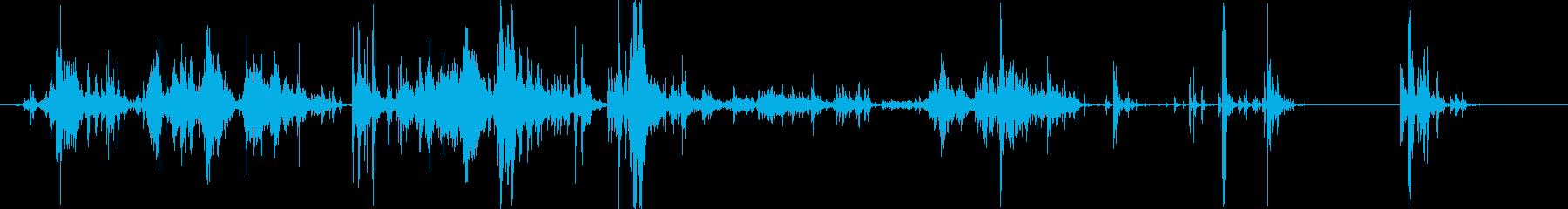 「ジャラジャラ」ブロック玩具をあさる音Aの再生済みの波形