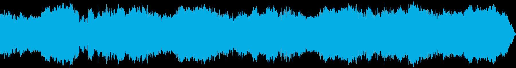 不気味な雰囲気のサスペンス向けBGMの再生済みの波形