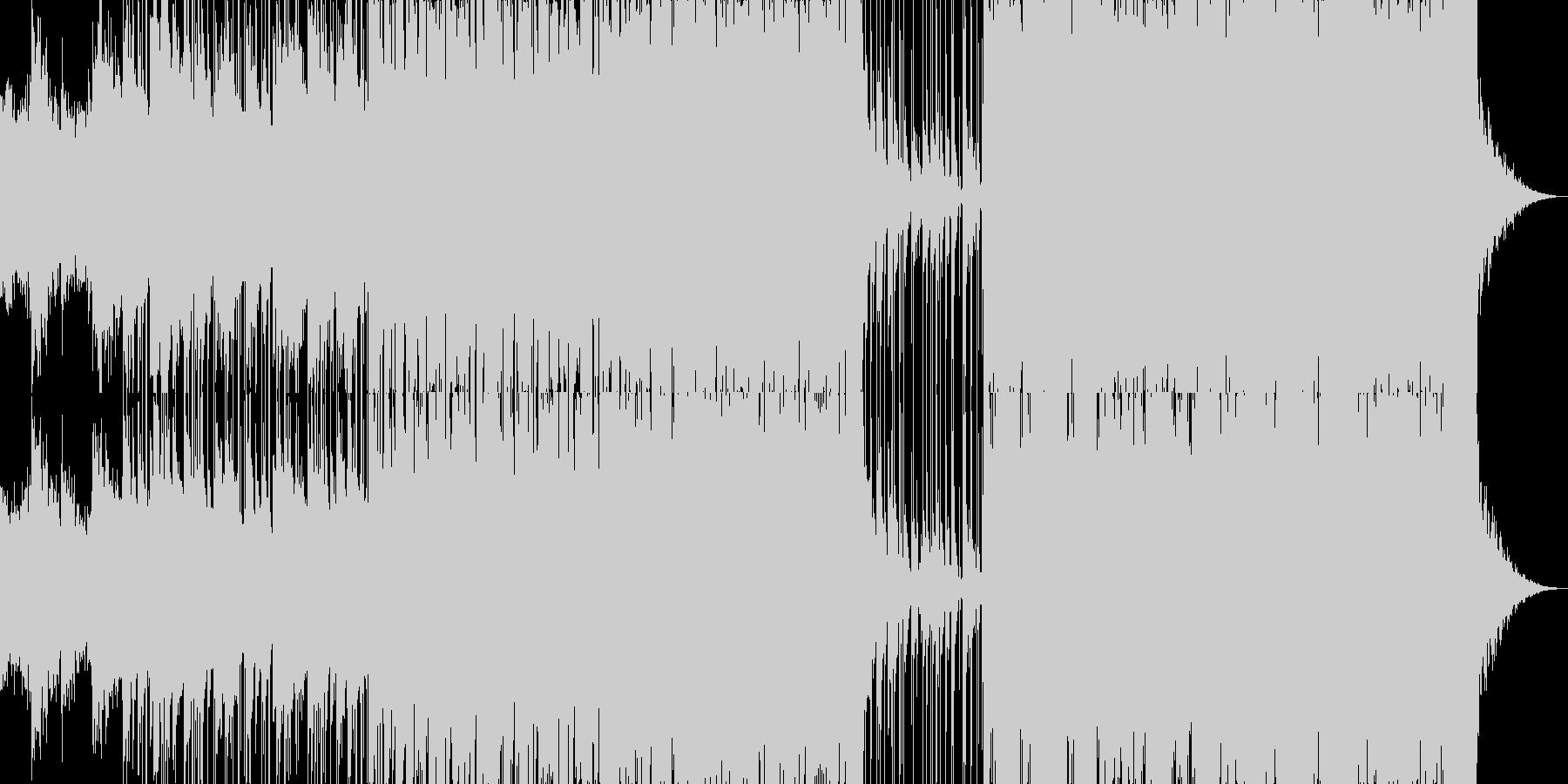 きれいな音色の幻想的なエレクトロニカの未再生の波形