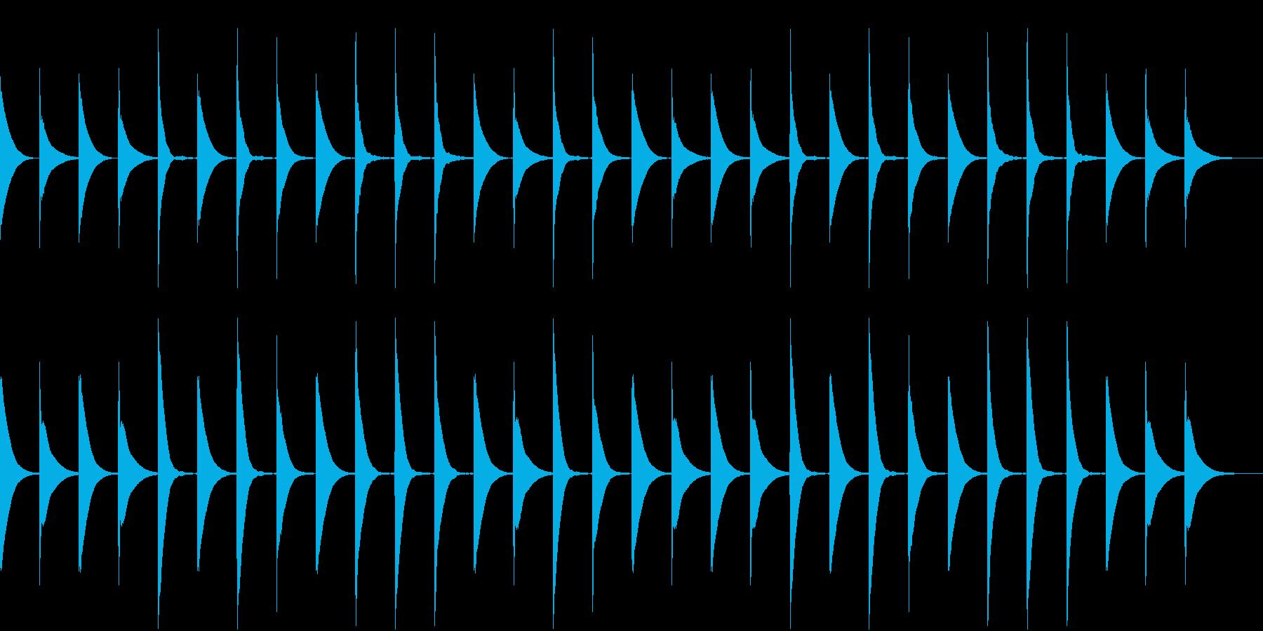 Xylo ゆる可愛い子供向け 木琴ループの再生済みの波形
