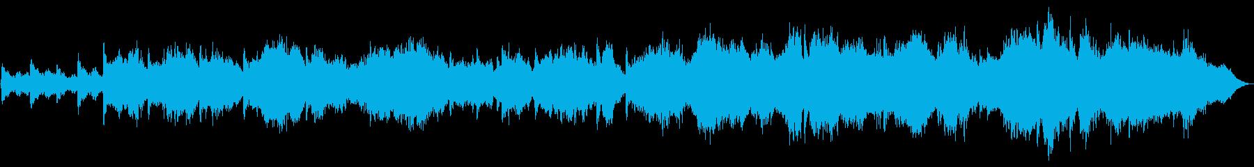 ピアノとパッドのヒーリングミュージックの再生済みの波形