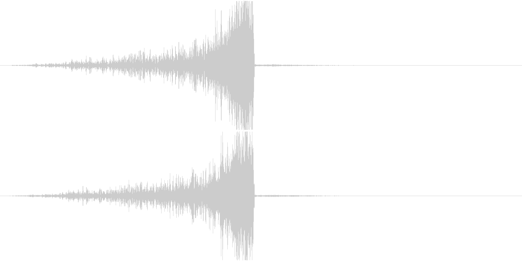 リバーススティンガー;長く上昇する...の未再生の波形