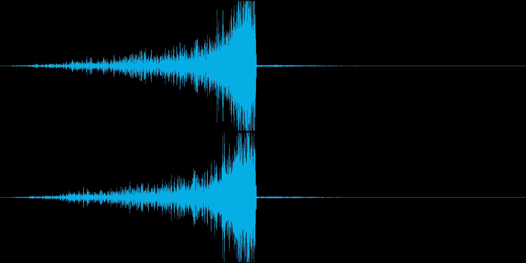 リバーススティンガー;長く上昇する...の再生済みの波形