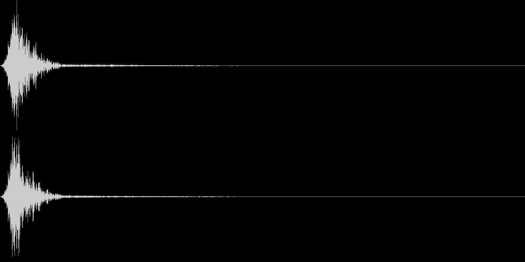 Ninjya 忍者 クナイ攻撃SE 7の未再生の波形