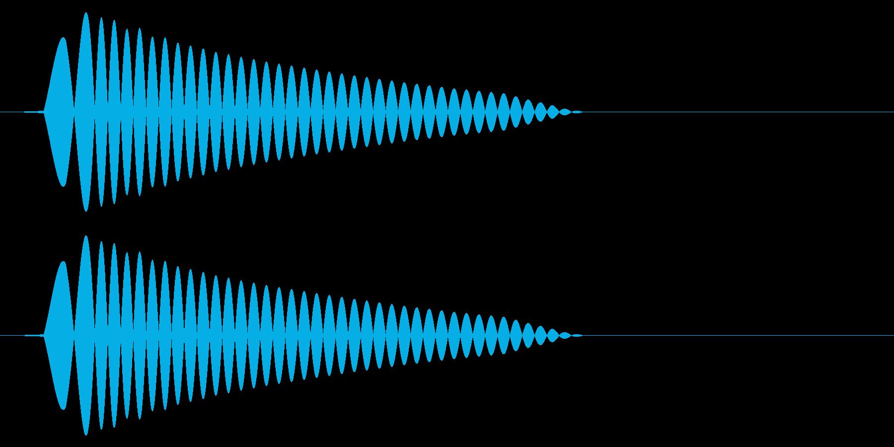 ポッ ポン(低音の薄い音)の再生済みの波形