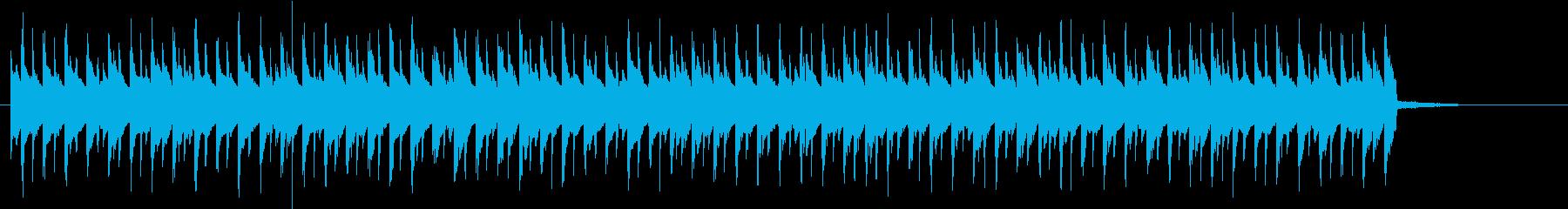 躍動的でポップなトランスBGMの再生済みの波形