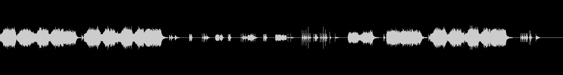 男声・打楽器をメインとしたアンサンブルの未再生の波形