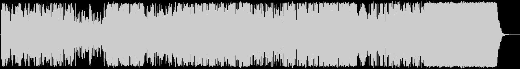 クールなエレクトロサウンドの未再生の波形