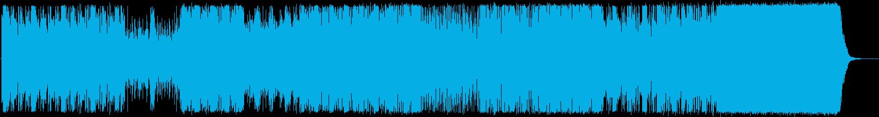 クールなエレクトロサウンドの再生済みの波形