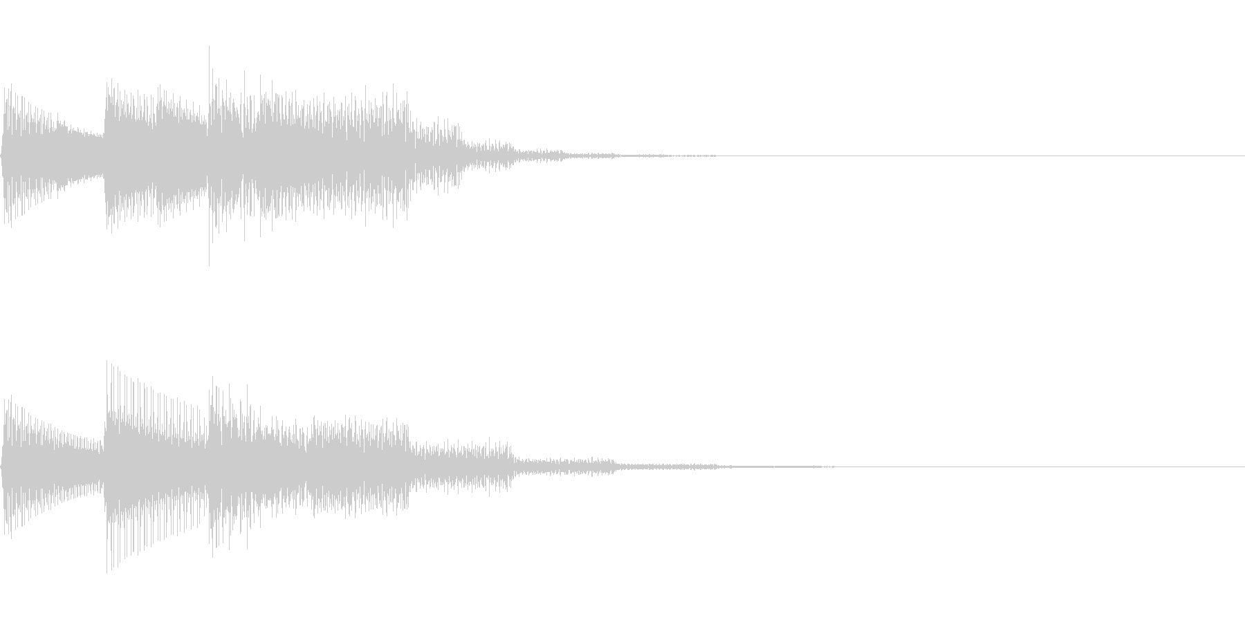 チャララン(回復クリア/ファミコン#6の未再生の波形