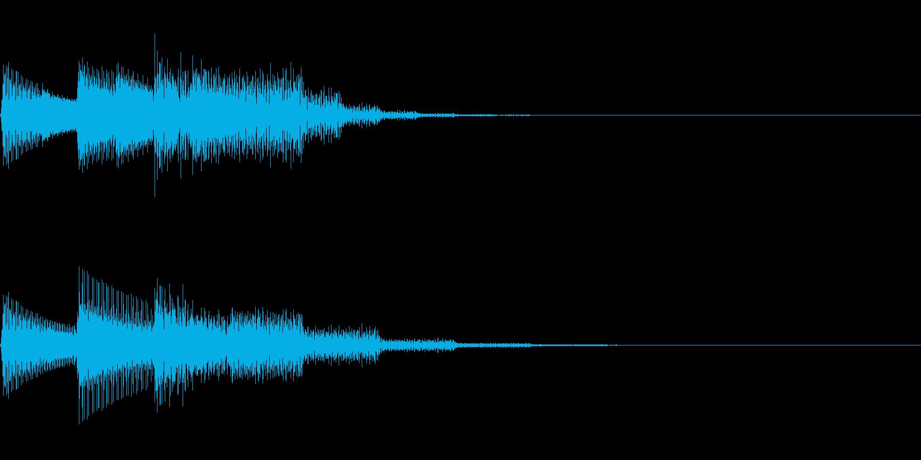 チャララン(回復クリア/ファミコン#6の再生済みの波形