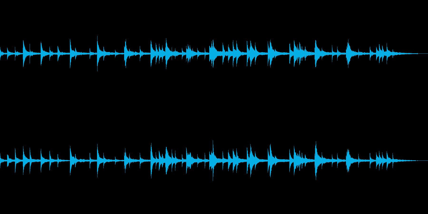 映像・ナレーション用ピアノ演奏(悲しみ)の再生済みの波形
