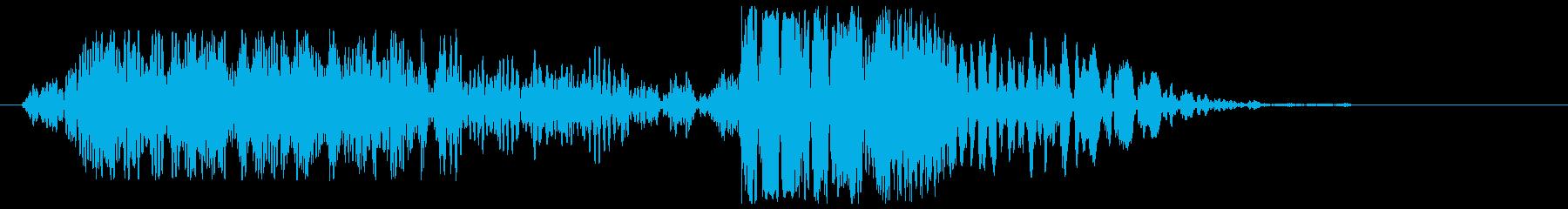 ブーンバシッの効果音の再生済みの波形