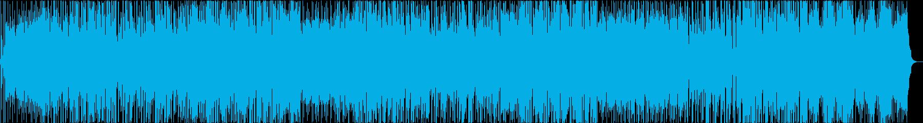 軽快に跳ねる楽しいポップチューンの再生済みの波形