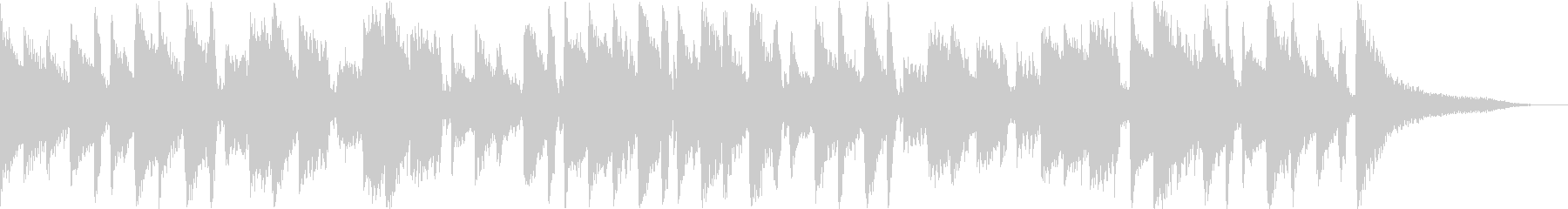 浮遊感のあるギターアルペジオの未再生の波形