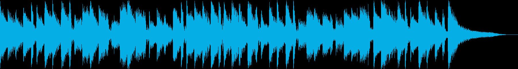 浮遊感のあるギターアルペジオの再生済みの波形
