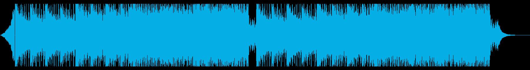 爽やかなEDM曲の再生済みの波形