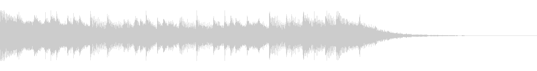 幸せなラマダン(15秒)の未再生の波形
