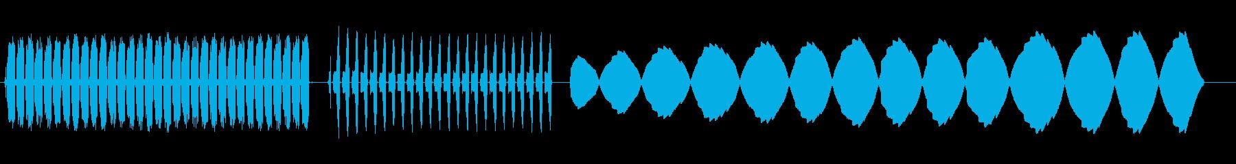 アーケード、ビープ音、爆発:3種類...の再生済みの波形