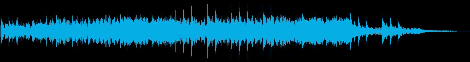 静かで物悲しくミステリアスなBGMの再生済みの波形