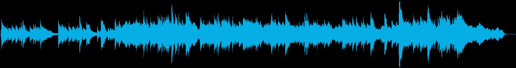 ピアノ、オルゴール、シンバルのトリ...の再生済みの波形