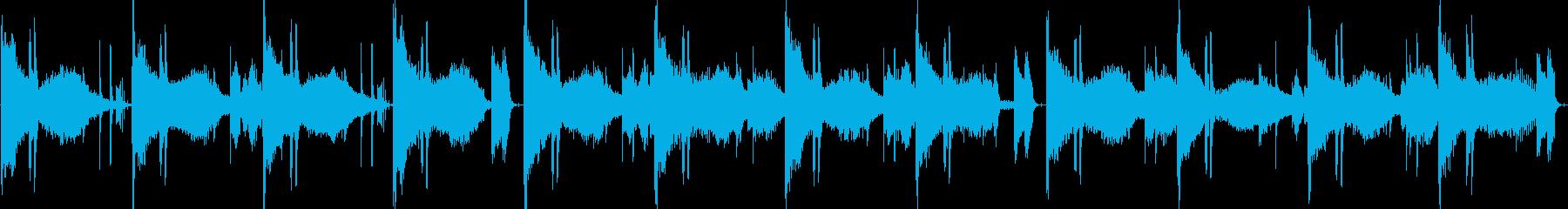 夜中のラジオで流れてそうなホーンサウンドの再生済みの波形