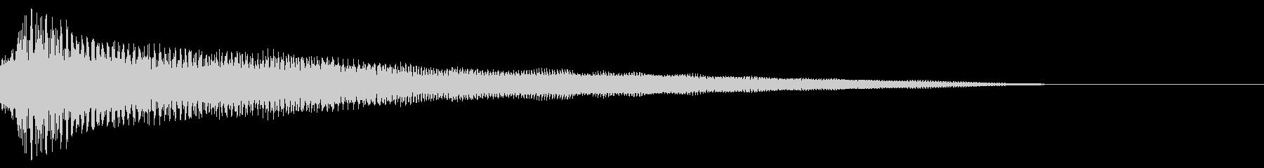 繊細で絹のような音と繊細なハーモニーの未再生の波形