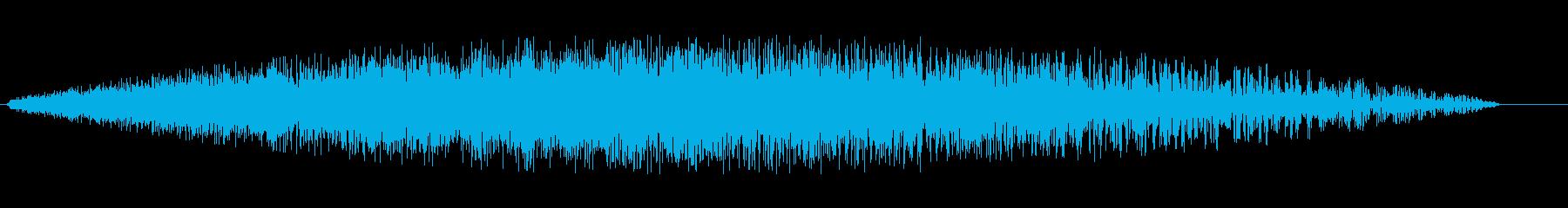 シューン(未来的な音)の再生済みの波形