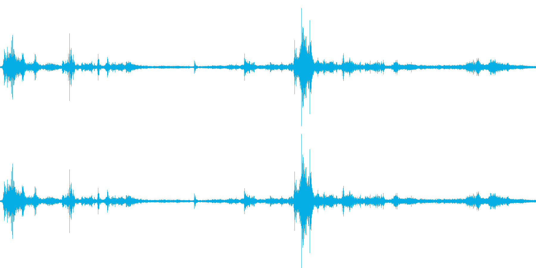 【生音】雷4 - 風と雷と通行音 「ざ…の再生済みの波形