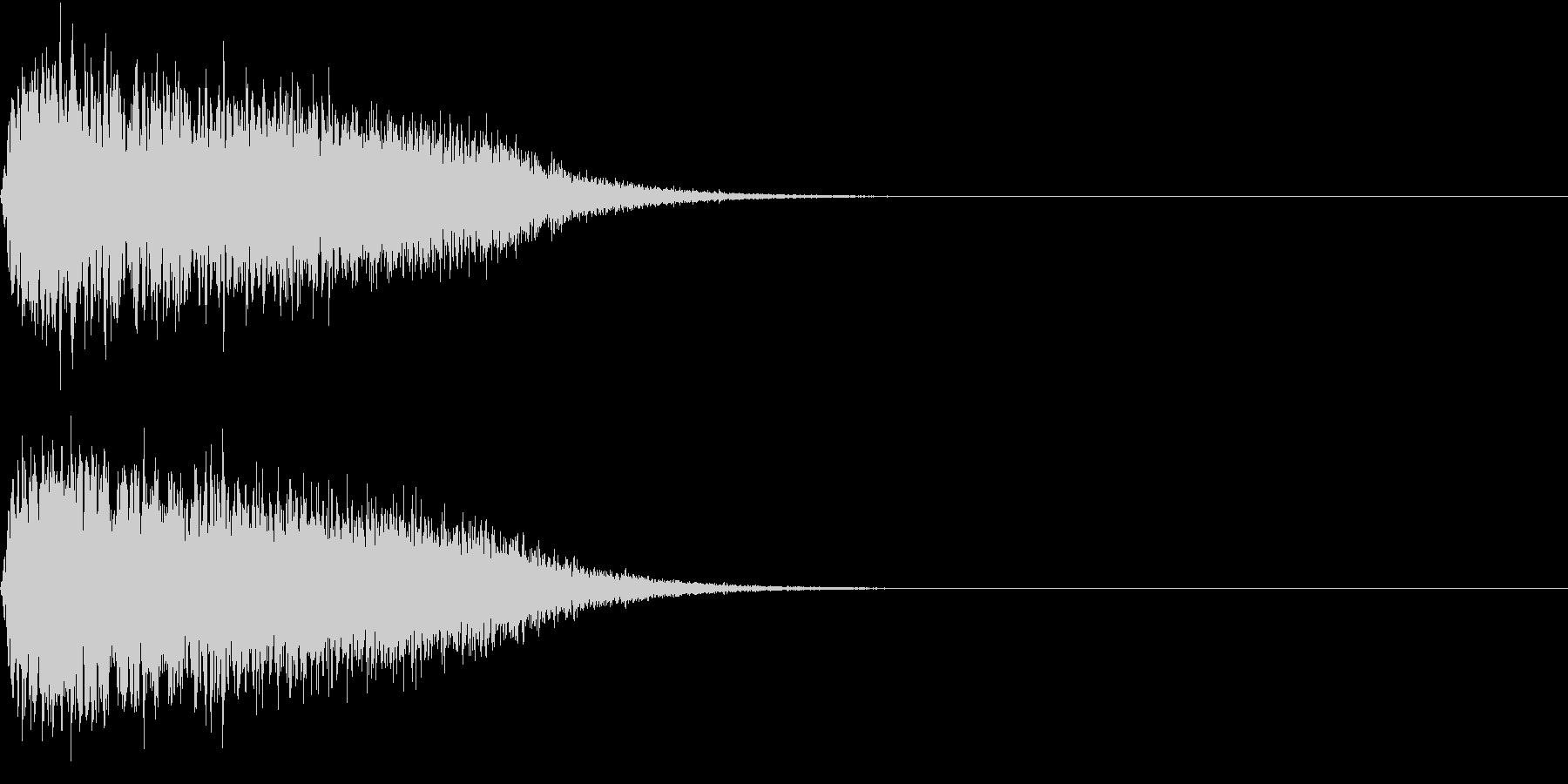 キュイン ボタン ピキーン キーン 16の未再生の波形