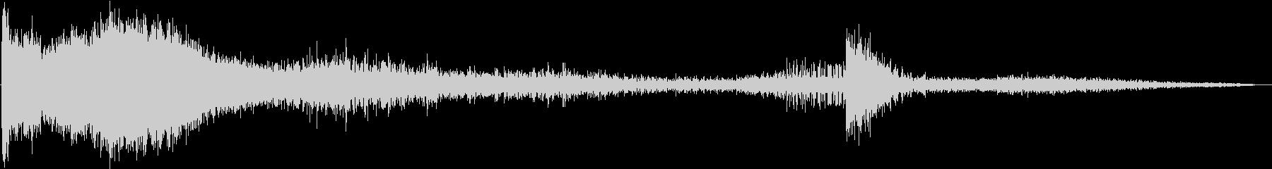 【ホラー】 ダークなタイトルロゴ 03の未再生の波形