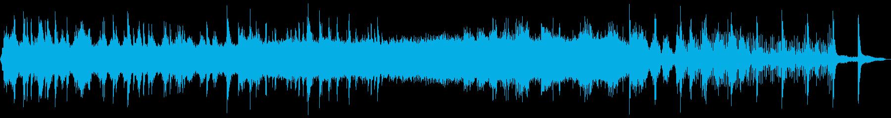 浮遊感のあるアンビエントミュージックの再生済みの波形