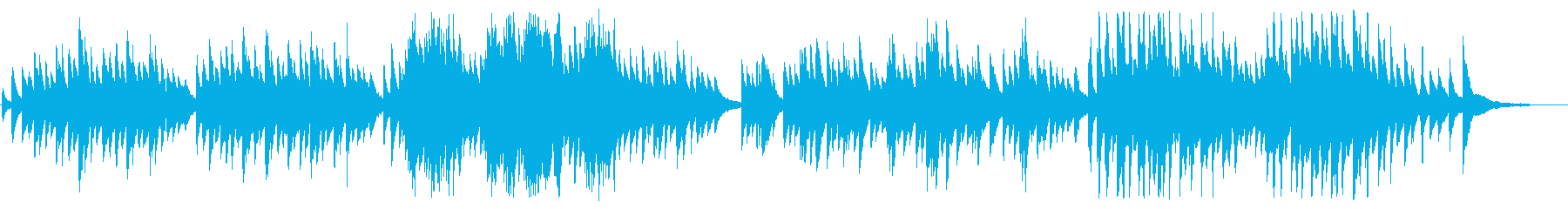 雪解けの切ないピアノBGMの再生済みの波形