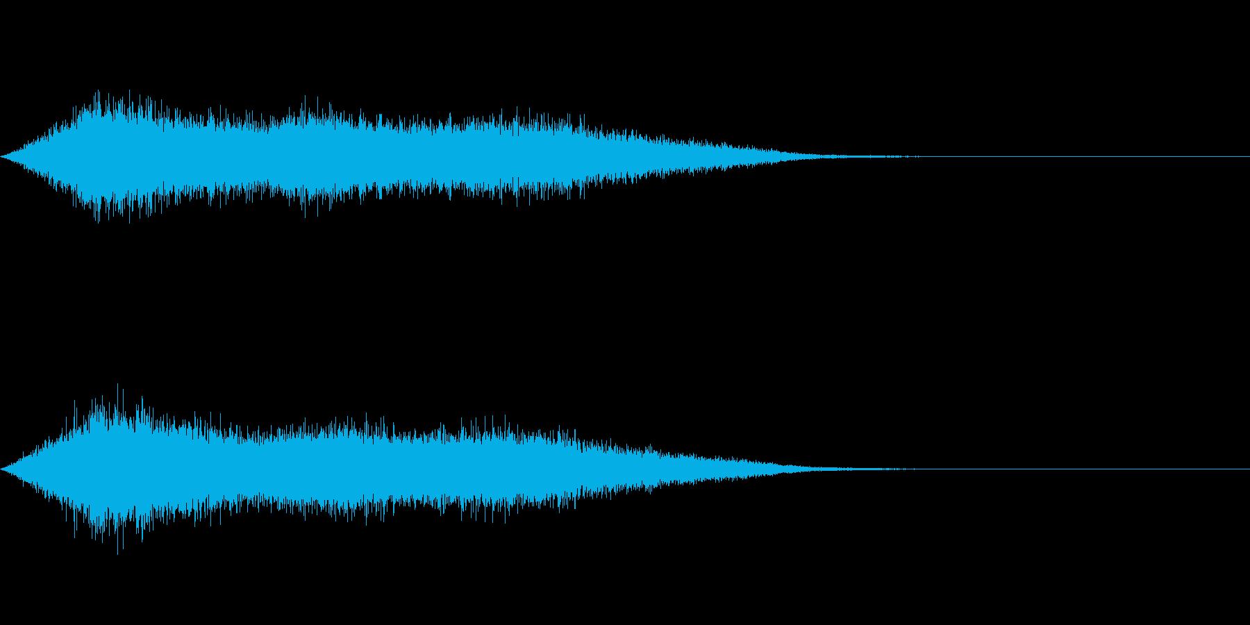 ワァーキャー!コンサートやライブの歓声2の再生済みの波形