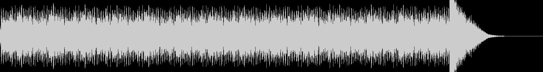 ドラムロールのち決定打音の未再生の波形