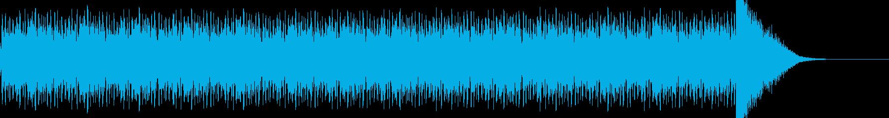 ドラムロールのち決定打音の再生済みの波形